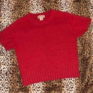 Mainframe medium sweater red silk angora rabbit